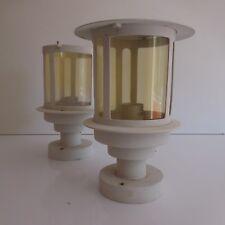 2 lanternes éclairages extérieur intérieur made in PRC art déco vintage XXe PN