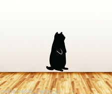 """WALL - Fat Cat Standing - Wall Vinyl Decal - (LARGE) (14""""w x 25""""h) (BLACK)"""