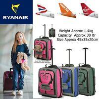 Children's Boys Girls Kids Hand Cabin Luggage Trolley Bag Suitcase Set Wheels