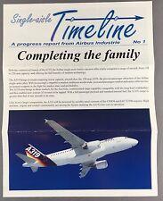 AIRBUS A319 A320 A321 FAMILY TIMELINE BROCHURE GULF AIR CONAIR ANSETT LUFTHANSA