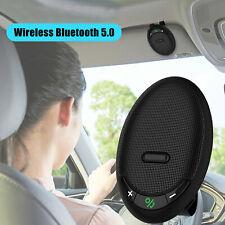 Wireless Bluetooth Car Kit Hands Free Speakerphone Speaker Phone Sun Visor Clip