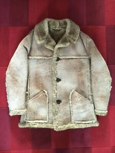 Mens Vintage Nursey Sheepskin Coat