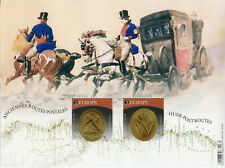 More details for belgium europa stamps 2020 mnh old postal routes services coins horses 2v m/s