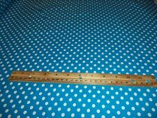 TURQUOISE POLKA DOT FLANNEL FABRIC - 7+ YARDS IN STOCK - SOLD BY THE YARD #2