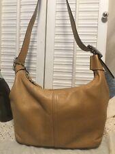 Coach Authentic Camel Carmel British Tan Convertible Shoulder Hobo Handbag 9566