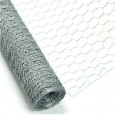 Chicken Rabbit Wire Galvanised Mesh 6m x 0.9m Roll Woven Metal Fence Garden New