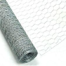 Poulet lapin fil galvanisé maille 6m x 0.9m rouleau tissé métal clôture jardin nouveau