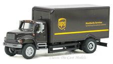 International 4900 2 Axle Box Van UPS Modern Logo HO 1/87 Walthers 949-11294