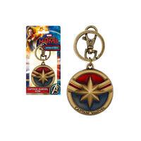Captain Marvel Enameled Pewter Key Chain Key Ring Monogram NEW IN STOCK