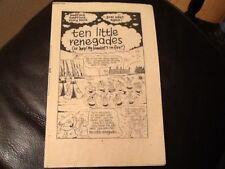 MONSTER FUN BADTIME BEDTIME BOOK 1970's Paper pull / cut out TEN LITTLE RENEGADE