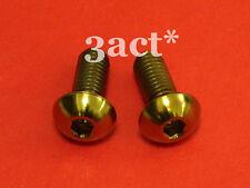2 pcs M5 x 12mm Gold Titanium/Ti Bolt Fit Bontrager FSA Elite Carbon Bottle Cage