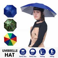 Sun Umbrella Hat Outdoor UV Protection Foldable Beach Head Cap Fishing Camping