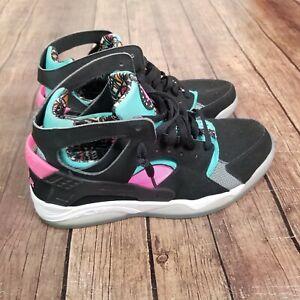 Nike Flight Huarache South Beach Shoes Mens 11.5 Black 705005-003 Sneakers