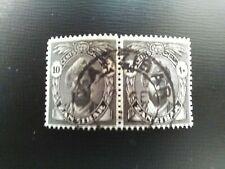 PAIR OF USED STAMPS OF ZANZIBAR 1936 SULTAN KALIF BIN HARUB 10 CENTS BLACK.