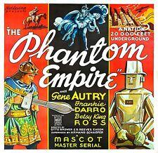 The Phantom Empire - Classic Cliffhanger Serial Movie DVD Gene Autry
