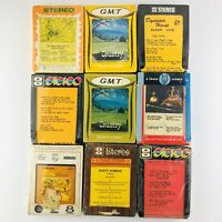Lot of 9 VTG Country Western Compilation 8-Track Cassettes Tapes NOS sealed!!!