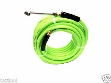 "50 FT ULTRA-FLEXIBLE AIR HOSE 300 PSI 3/8"" WITH 1/4"" FITTINGS & DUAL TIRE CHUCK"
