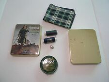 BARBOUR-  THORNPROOF REPAIR KIT IN METAL TIN -VINTAGE TWO CREST-MADE IN ENGLAND