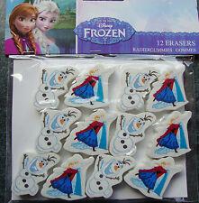 12 x FROZEN erasers Party Favours loot fillers Frozen Party Supplies Anna Elsa