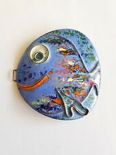 Gürtelschnalle Fisch Kupfer Emaille