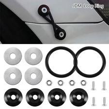 Arandela sólida Negro aluminio sujetador coche parachoques guardabarros tapa kit