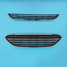 Front Bumper Center Mesh Vent Grille+Lower Grill Trim For Ford Fiesta 2014-2017