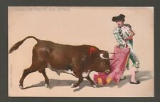 [62813] OLD POSTCARD CAPEO DE FRENTE POR DETRAS Bull Fighting Series