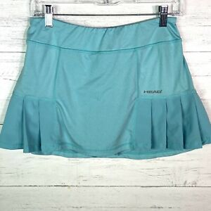 Head Aqua Turquoise Tennis Golf Pleated Skort Women's Size M Back Zip Pocket