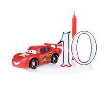 Kit Bougie Figurine décoration gâteaux Anniversaire DISNEY CARS FLASH MC QUEEN