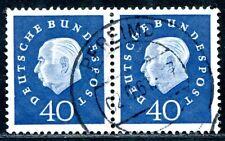 BUND 1959 305 gestempelt PAAR Lückenfüller (A9502