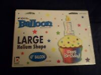 Fun Novelty Foil Balloons Happy 1st Birthday Cupcake XL 47in ~Free Gifts Party