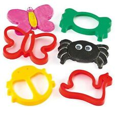 Giant Plastic Bug Insect Mini Beast Cutters for Dough, Cookies & Biscuits 4 Pack