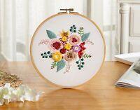 USA Cross Stitch DIY Needlework Kit Embroidery Starter Set Beginner Crafts Tools