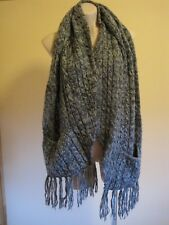 TIGERLILY THICK GREY SCARF WITH TWO POCKETS
