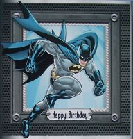 HANDMADE 3-D  BATMAN BIRTHDAY GRETTING CARD WITH A SENTIMENT WEEKEND SALE