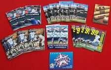Huge Lot Of 25 Baseball Pocket Schedules - Rangers, Cubs, Tigers, Rays, More!