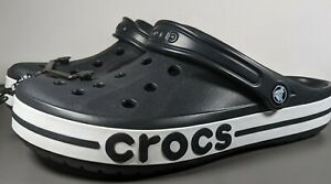 Crocs Bayaband Clogs Black White Mens Size 11    205089 066
