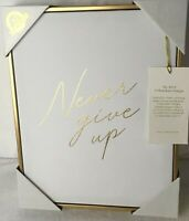 CKD Colleen Karis Canvas Wall Design Art Girl Office Never Give Up Gold  11x14
