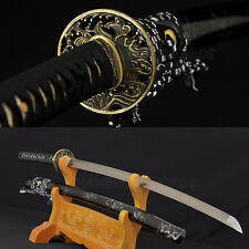 HANDMADE JAPANESE REAL SWORD SAMURAI KATANA DAMASCUS FOLD STEEL BLADE 8192LAYERS