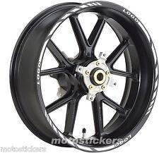 DUCATI Monster - Adesivi Cerchi – Kit ruote modello racing con logo
