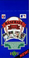 1989 Upper Deck Baseball (#s 1-700) - Empty Display Box- (1st UD Issue)