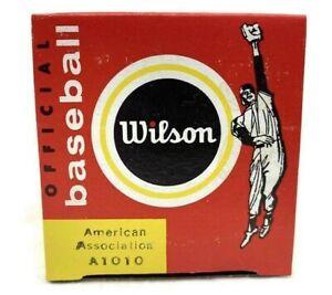 1970s Official Wilson A1010 Baseball American Association New Old Stock MLB NIP