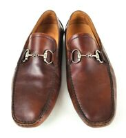 Magnanni for Neiman Marcus Mens Brown Driving Shoe Loafer Horse Bit Size 10.5