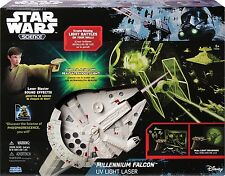 Uncle Milton Star Wars Science Millennium Falcon UV Light Laser Ages 5+ New Toy