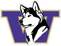 "Washington Huskies Color Vinyl Decal Sticker - You Choose Size 2""-38"""