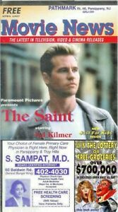VAL KILMER The Saint Movie News brochure Apr 1997 batman Parsippany Pathmark
