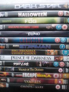 John Carpenter 14 DVD Bundle Halloween They Live Fog Starman Christine Darkstar