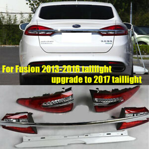 For Ford Fusion 2013-2016 Tail Lights Upgrade To 2017 Model New LED Taillights