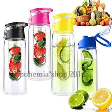 Trinkflasche mit Früchteeinsatz Flasche Früchte Fruits Behälter Fruchteinsatz