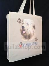 More details for wheaten terrier cotton shopping bag with gusset for xtra space perfect gift